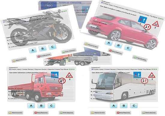 Chestionare auto DRPCIV (permis de conducere)